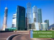 Panorama of Moscow City Modelos de apresentações PowerPoint