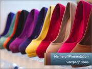 Colorful leather shoes PowerPoint Templates