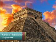 Kukulkan Pyramid in  Mexico PowerPoint Templates