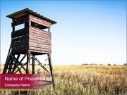 Wildlife observation point PowerPoint Templates