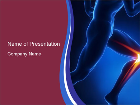 knee anatomy powerpoint template & backgrounds id 0000095894, Modern powerpoint