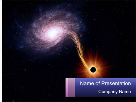 galaxy powerpoint template