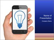 Smartphone with Light Bulb PowerPoint Templates
