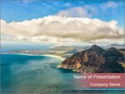 Indian Ocean in Cape Town PowerPoint Templates