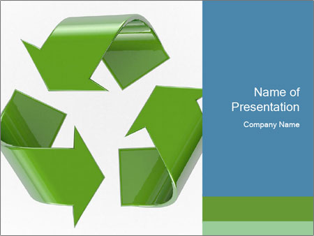 recycle powerpoint template smiletemplates com