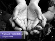 Empty old and young hands PowerPoint Templates