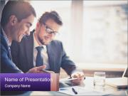 Two young businessmen PowerPoint Templates
