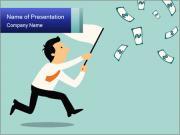 Businessman running PowerPoint Templates