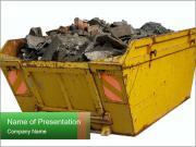 A skip full of rubble Modelos de apresentações PowerPoint
