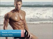 Muscular fitness model man PowerPoint Templates