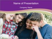 Teenage Friends Modèles des présentations  PowerPoint
