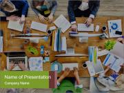 Busy People Working Шаблоны презентаций PowerPoint