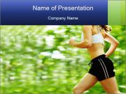 Woman runner PowerPoint Templates