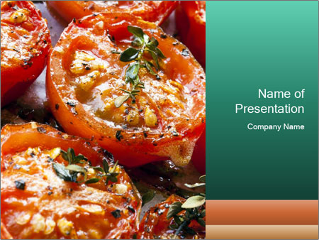 Roasted cherry tomatoes PowerPoint Template