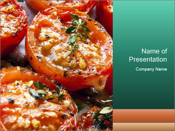 Roasted cherry tomatoes PowerPoint Template - Slide 1