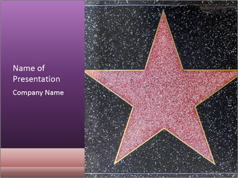 Hollywood Walk of Fame PowerPoint Template - Slide 1