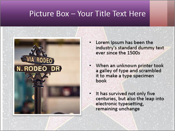 Hollywood Walk of Fame PowerPoint Template - Slide 13