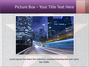 Hollywood Walk of Fame PowerPoint Template - Slide 16