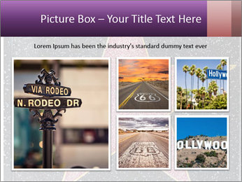 Hollywood Walk of Fame PowerPoint Template - Slide 19