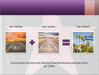 Hollywood Walk of Fame PowerPoint Template - Slide 22