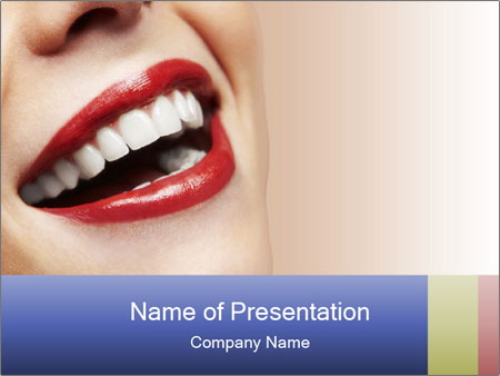 Woman smiling PowerPoint Template