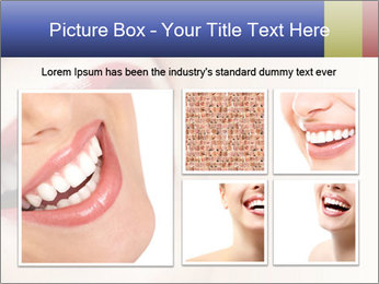 Woman smiling PowerPoint Template - Slide 19