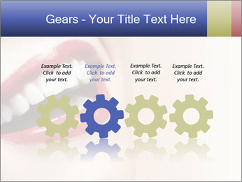 Woman smiling PowerPoint Template - Slide 48