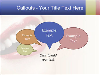 Woman smiling PowerPoint Template - Slide 73