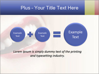Woman smiling PowerPoint Template - Slide 75
