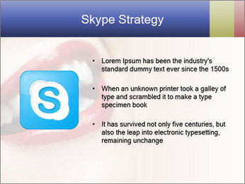 Woman smiling PowerPoint Template - Slide 8