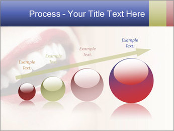 Woman smiling PowerPoint Template - Slide 87