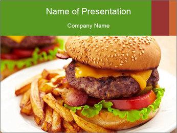 Burger PowerPoint Template - Slide 1