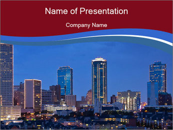 Texas at night PowerPoint Template - Slide 1