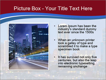 Texas at night PowerPoint Template - Slide 13