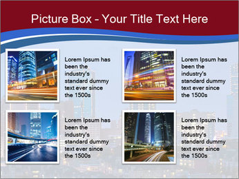 Texas at night PowerPoint Template - Slide 14