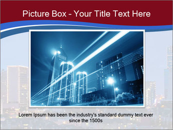 Texas at night PowerPoint Template - Slide 16