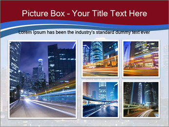 Texas at night PowerPoint Template - Slide 19