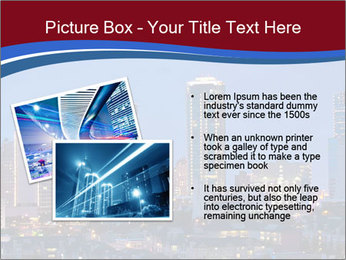 Texas at night PowerPoint Template - Slide 20