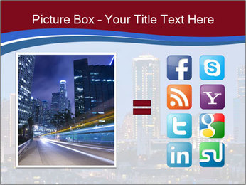 Texas at night PowerPoint Template - Slide 21