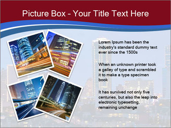 Texas at night PowerPoint Template - Slide 23