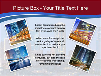 Texas at night PowerPoint Template - Slide 24