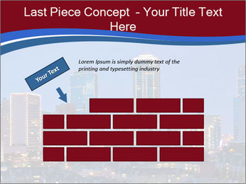 Texas at night PowerPoint Template - Slide 46