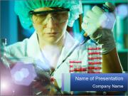 Oncology lab PowerPoint Template
