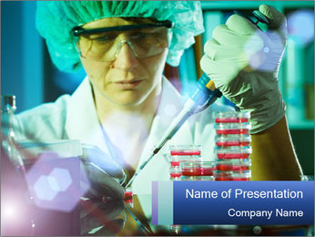 Oncology lab PowerPoint Template - Slide 1