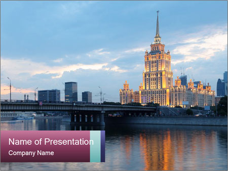 Bridge and Hotel PowerPoint Template