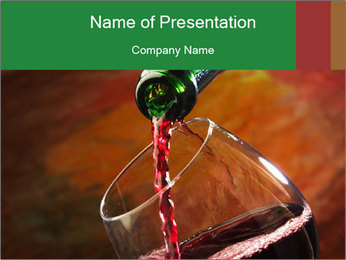 Red wine PowerPoint Template - Slide 1