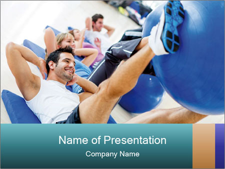 Gym people PowerPoint Template