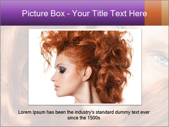 Healthy Long Red Curly Hair PowerPoint Template - Slide 16