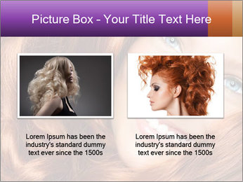 Healthy Long Red Curly Hair PowerPoint Template - Slide 18