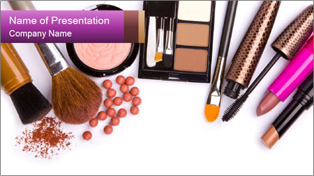 Makeup brush PowerPoint Template
